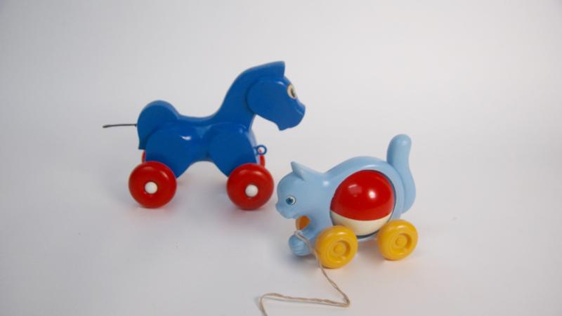 Blauw trekpaard