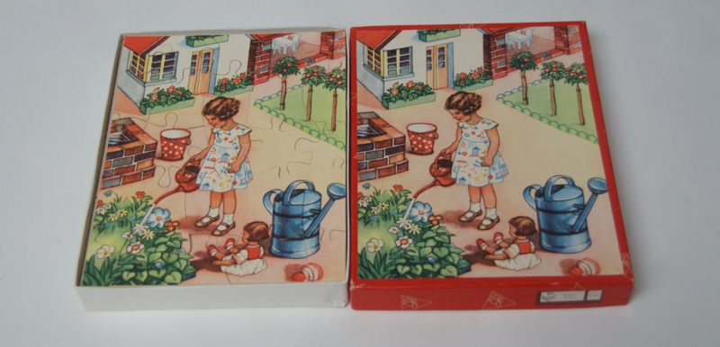Jaren 60 houten puzzel Kolibri