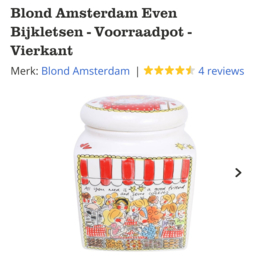 Blond Amsterdam Voorraadpot-Vierkant