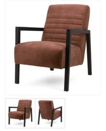 Lars cognac fauteuil