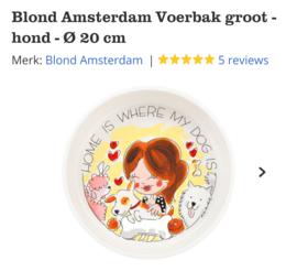 Blond Amsterdam Voerbak Groot 20cm
