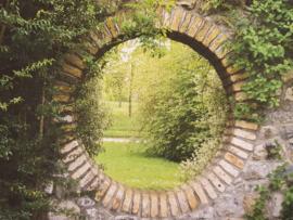 Tuinposter xxl  doorkijk rond