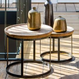 By Boo bijzettafel set Wood metaal