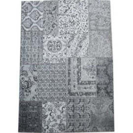 Tapijt Carpet Patchwork Grijs 170x240