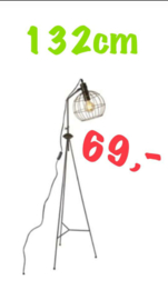 Industriële lamp 132cm  Nu €49 ,-