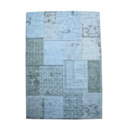 Carpet Patchwork turquoise 170x240 cm