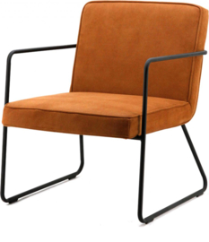 Fauteuil Alpha - Cognac - Stof - By-Boo
