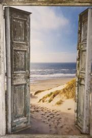 Tuinposter xxl  strand doorkijk