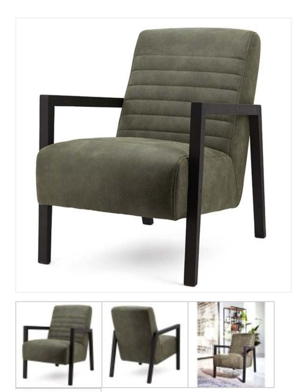 Lars groen fauteuil