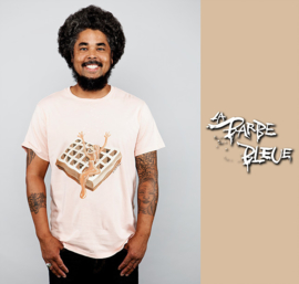 HAND PAINTED T-SHIRT > 24 KITCHEN FOOD TRUCK CHALLENGE / ICE CUBE FOR LONDON LOY