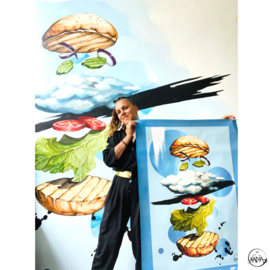 MURAL SKYBURGER - PRIVATE HOME ROTTERDAM