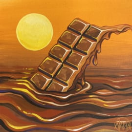 #DAILYPAINTING 015 🍫🌅