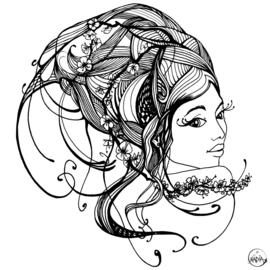 GRAPHIC DESIGN 'HAIR' FOR HAIRDRESSER MIXTBABY