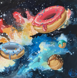 #DAILYPAINTING 009 🌌🍩💖