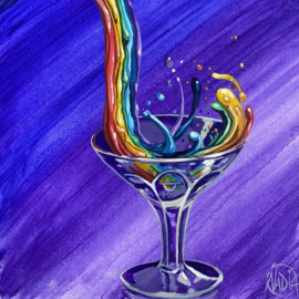 #DAILYPAINTING 016 🌈🍸