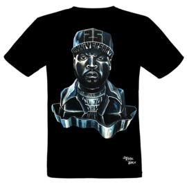 HAND PAINTED T-SHIRT > ICE CUBE / STILL FRESH / FOR THE 25TH ANNIVERSARY OF 'IT WAS A GOOD DAY'