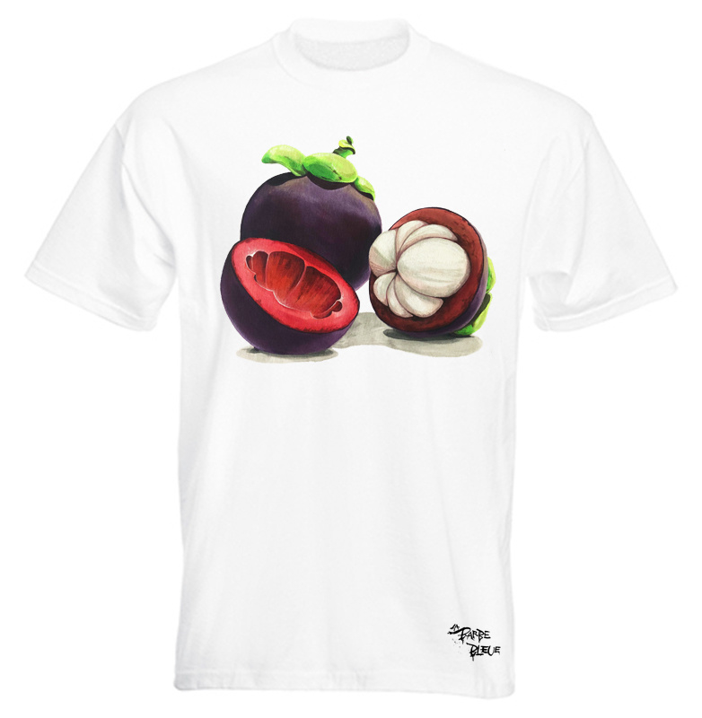 HAND PAINTED T-SHIRT > MANGISTAN QUEEN OF FRUITS