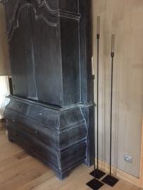 Vloerkandelaar beau 120 cm zwart