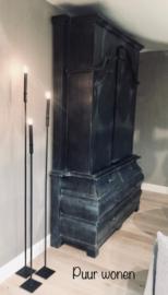 Vloerkandelaar marlous 120 cm zwart