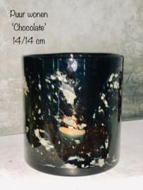 Windlicht 'Chocolate' 14/14cm