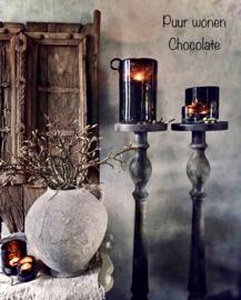 Windlicht 'Chocolate' 7/7 cm