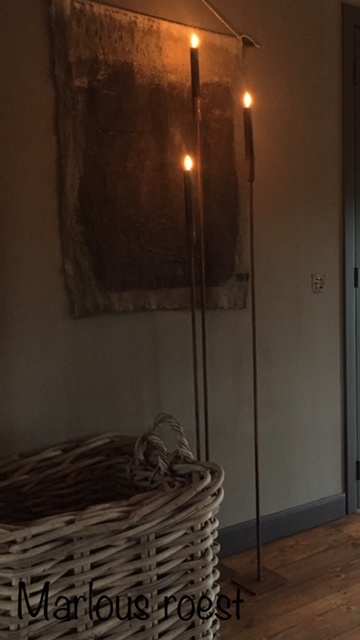 Vloerkandelaar marlous 140 cm roest