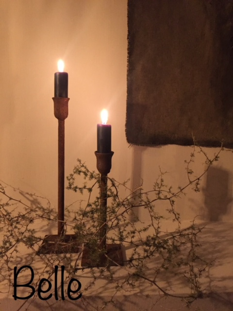 Tafelkandelaar Belle 20 cm roest