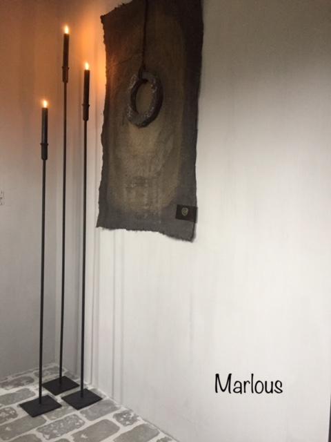 Vloer kandelaar marlous set zwart