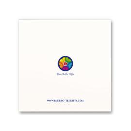 Wenskaart Happy thoughts - Set van 5 kaarten