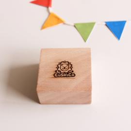 Set of 7 cheerful Cushico postcards incl. handmade card holder