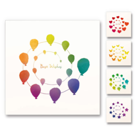 Happy thoughts greeting cards - Set of 5 cards