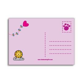 Ansichtkaart Cushico - Ik vind je lief