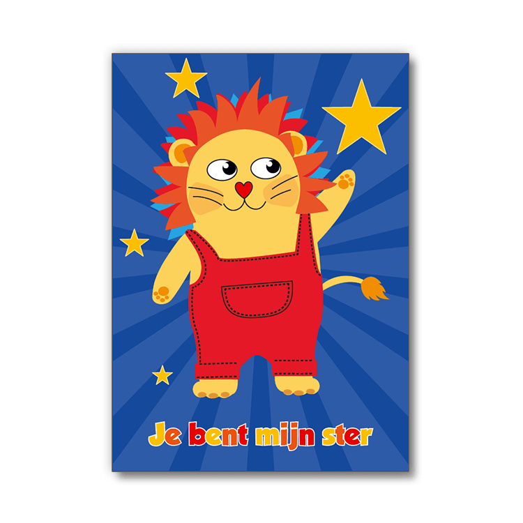 Ansichtkaart Cushico -Jij bent mijn ster