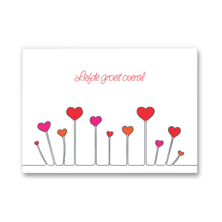 Ansichtkaart Liefde groeit overal