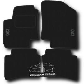 CLASSIC Velours automatten met logo Hyundai i20 2008-2014