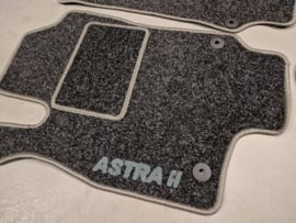 Velours automatten antraciet met grijze logo Astra G