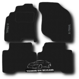 CLASSIC Velours automatten met logo Nissan X-Trail T30 2001-2007