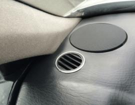 AUDI 80 B3 / B4 - Verchroomde aluminium ventilatieringen
