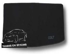 CLASSIC Velours Kofferbakmat met logo Mitsubishi Colt 6