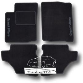 CLASSIC Velours automatten met logo Suzuki Grand Vitara I  3-deuren 1998-2005