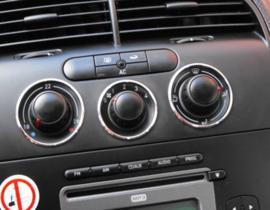 Seat Altea / Leon II - Verchroomde aluminium kachel ringen