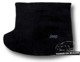 CLASSIC Velours Kofferbakmat met logo Jeep Compass 2007-2017