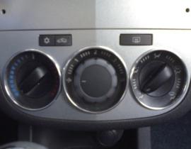 Opel Corsa D - verchroomde aluminium kachel ringen