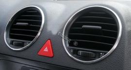 Verchroomde aluminium luchtinlaat ringen VW Caddy 2 2004-2014