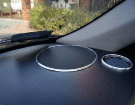 AUDI 80 B3 / B4 - Verchroomde aluminium speakerringen