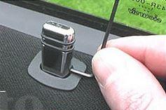Hoogglans aluminium deurstiften, Opel (oval)