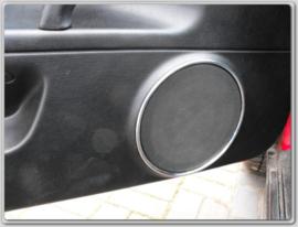 Fiat Coupe - Verchroomde aluminium achter speakerringen