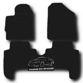 CLASSIC Velours automatten met logo Toyota Yaris II 5d.  2005-2011