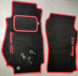 CLASSIC Velours automatten met rode rand en logo Nissan 350Z