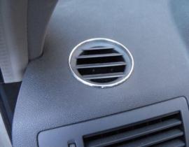 Opel Astra H - verchroomde  aluminium ventilatieringen